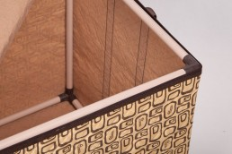 hometex clothing box with frame opened inside