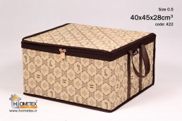 hometex small cream clothing box with frame