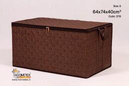 hometex large dark brown clothing box