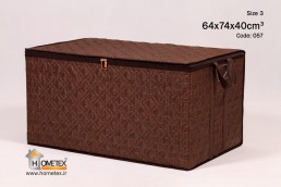 hometex large dark brown frameless clothing box