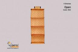 hometex four shelf hanging organizer g design