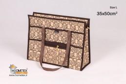 hometex top zip shopping bag square design