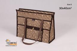 hometex top zip shopping bag hometex design