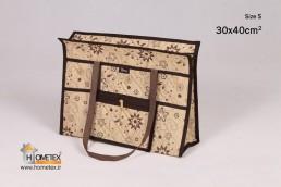 hometex top zip shopping bag flower design