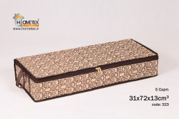 hometex brown and cream underbed storage