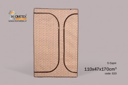 hometex brown and cream square wardrobe